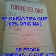 Partituras musicales: ANTONIO BRUGUERA TORRE DEL ORO PARTITURA ARCHIVO PERE PUIG PARÉS P20. Lote 295886018