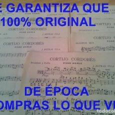 Partituras musicales: J DOTRAS VILA CORTIJO CORDOBES PARTITURA ARCHIVO PERE PUIG PARÉS P20. Lote 295886028