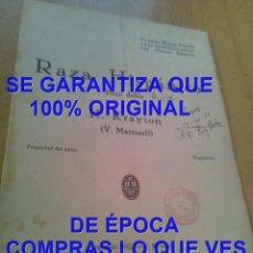 Partituras musicales: H KRAYTON V MARTORELL RAZA HISPANICA PARTITURA ARCHIVO PERE PUIG PARÉS P20. Lote 295886068