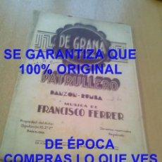 Partituras musicales: FRANCISCO FERRER DE GRANÁ PATRULLERO PARTITURA ARCHIVO PERE PUIG PARÉS P20. Lote 295886088