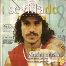 Revistas de música: REVISTA 'SEVILLA DC - DISTRITO CULTURAL', Nº 18. MAYO 2005. MACACO EN PORTADA.. Lote 3446950