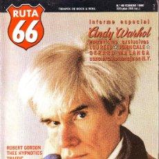 Revistas de música: RUTA 66 Nº 48: ANDY WARHOL. LOU REED. JOHN CALE. GERARD MALANGA. TRAFFIC. NIRVANA. CORCOBADO. SOUNDG. Lote 104096538
