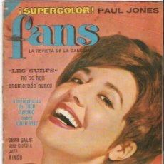 Revistas de música: FANS Nº 22 CON LA VIDA DE LOS BEATLES - CONSERVA SU POSTER - ORIGINAL - LEER. Lote 20889683