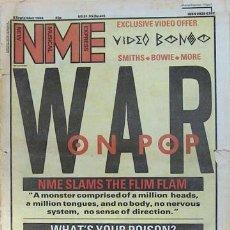 Revistas de música: NEW MUSICAL EXPRESS 8-9-1984. MARC ALMOND, ROBERT WYATT, MOTORHEAD…. Lote 7393373