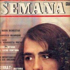 Revistas de música: JOAN MANUEL SERRAT SEMANA ARGENTINA 1971 CHARLES AZNAVOUR EXCELENTE !!!!!!!!. Lote 8088344