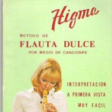 Revistas de música: HIGMA - METODO DE FLAUTA DULCE POR MEDIO DE CANCIONES. Lote 17518237