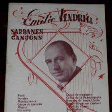 Revistas de música: ANTIGUO CANCIONERO EMILIO VENDRELL . EDITORIAL ALAS. TIENE 16 PAGNAS Y MIDE 21,5 X 15,5 CMS.. Lote 8473347
