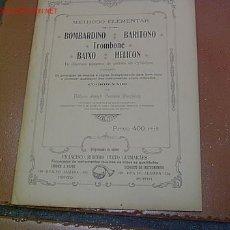 Revistas de música: METODO ELEMENTAL DE BOMBARDINO BARITONO TOMBON BAJO HELICON - POR ANTONIO JOSEPH FERREIRA -. Lote 153444082