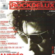 Revistas de música: ROCKDELUX - ANDRES CALAMARO *** NUM 180 DIC 00 ** + CD MUSIC FIRST. Lote 12669915