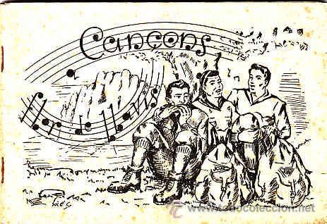 CANÇONS A FLOR DE LLAVIIS, CANÇONS DE MUNTANYA, ANY 1954 (Música - Revistas, Manuales y Cursos)