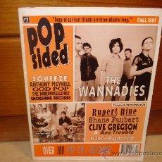 Revistas de música: POPSIDED Nº 7 - OTOÑO 1997 - CON THE WANNADIES, SQUEEZE, ETC. Lote 10726256