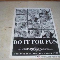 Revistas de música: FANZINE DO IT FOR FUN Nº 2 - CON THE BACHELOR PAD, THE CLOSE LOBSTERS, ETC. Lote 11876803