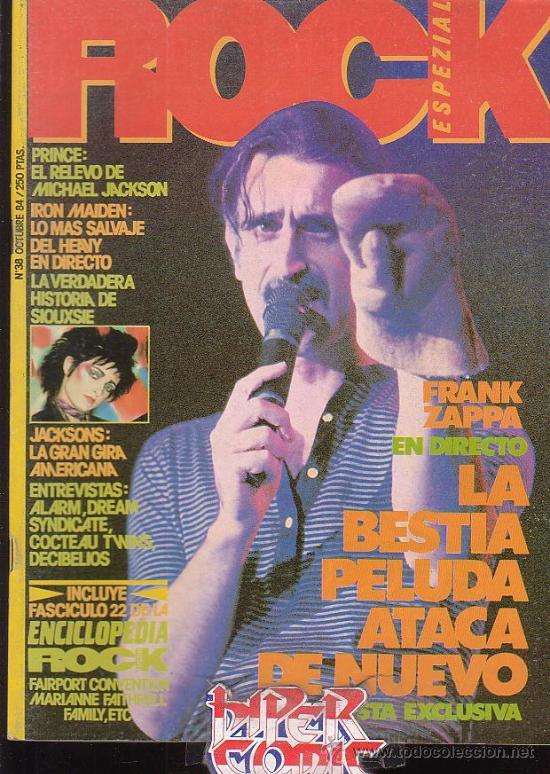 ROCK ESPEZIAL - Nº 38 - REVISTA DE MUSICA EDITADA - 1984 (Música - Revistas, Manuales y Cursos)