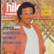Revistas de música: HILO MUSICAL Nº 146 - JULIO IGLESIAS - ANTOÑETE - FESTIVAL DE BERLIN LOS ULTRASONIDOS - 1986. Lote 12530106