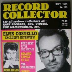 Revistas de música: REVISTA RECORD COLLECTOR - SEPTIEMBRE 1995 - ELVIS COSTELLO - PETE BEST. Lote 17150839