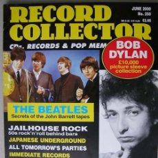 Revistas de música: REVISTA RECORD COLLECTOR - JUNIO 2000 - BOB DYLAN - THE BEATLES. Lote 17150841