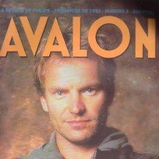 Revistas de música: AVALON Nº 3 - STING - EDITADA - AÑO 1993. Lote 12779076