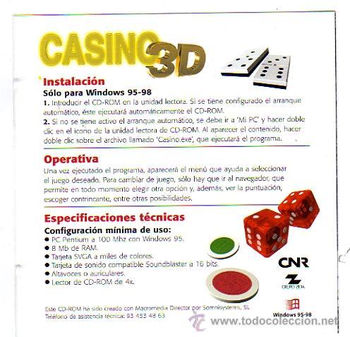 Cd Casino 3d Juegos Clasicos Comprar Revistas Antiguas De