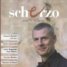Revistas de música: REVISTA DE MÚSICA CLÁSICA: SCHERZO. Nº 227 - FEBRERO 2008. Lote 26608462