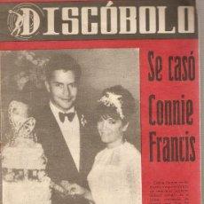 Revistas de música: DISCOBOLO: CONNIE FRANCIS, JULIETTE GRECO, LOS T.N.T., LOS PAJAROS LOCOS, ROSALIA, ELENA DUQUE . Lote 20134765
