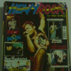 Revistas de música: HEAVY ROCK 195 IRON MAIDEN EXTREMODURO FOO FIGHTERS RAGE AGAINST THE MACHINE EXTREMODURO LA VENGANZA. Lote 28045044
