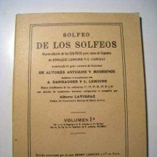 Riviste di musica: SOLFEO DE LOS SOLFEOS: VOCES DE SOPRANO - FACSIMIL. Lote 16278135