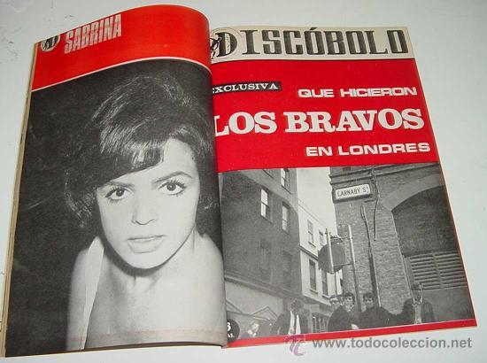 Revistas de música: 3 REVISTAS DISCOBOLO ENCUADERNADAS - NUMEROS 110, 111, 112 DE 1966 - BRUNO LOMAS, BEATLES, BRAVOS, J - Foto 2 - 25099665