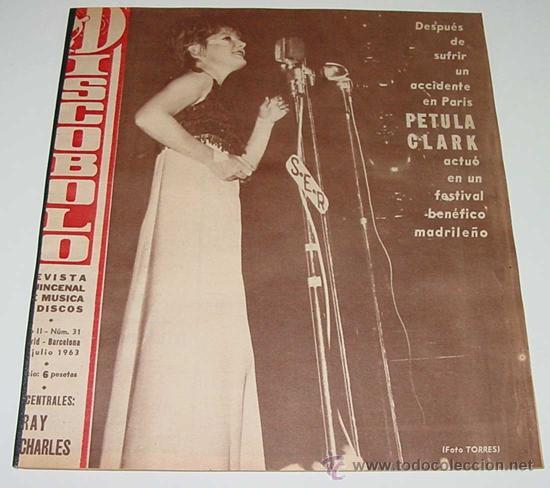 3 REVISTAS DISCOBOLO ENCUADERNADAS NUM. 31, 32, 33 - AÑO 1963 - PETULA CLARK, MARISOL, THE SPOTNICKS (Música - Revistas, Manuales y Cursos)
