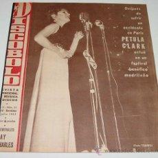 Revistas de música: 3 REVISTAS DISCOBOLO ENCUADERNADAS NUM. 31, 32, 33 - AÑO 1963 - PETULA CLARK, MARISOL, THE SPOTNICKS. Lote 24970799