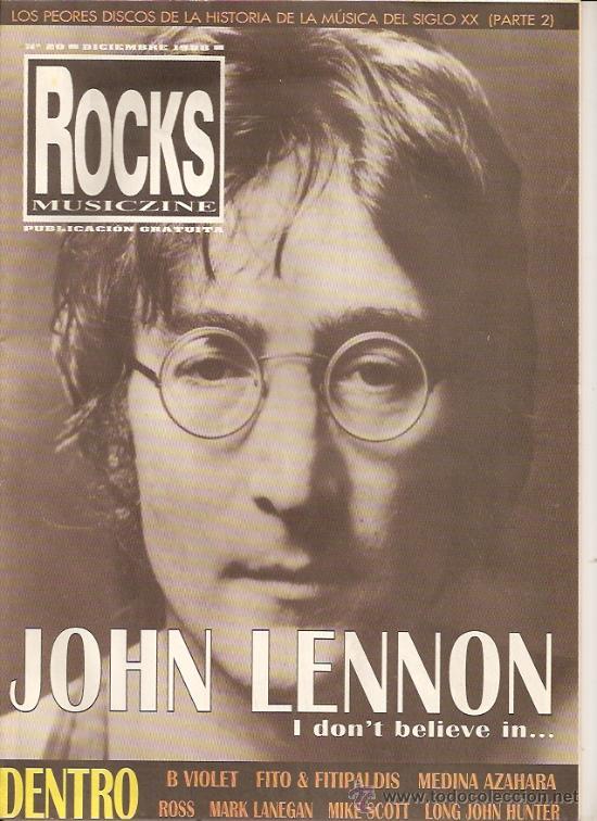 JOHN LENNON REVISTA ROCKS MUSICZINE AÑO 1998 (Música - Revistas, Manuales y Cursos)