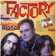 "Revistas de música: FACTORY #6 – ABRIL/JUNIO 1995 – AUSTRALIAN BLONDE / HENRY ROLLINS / ROBERT WYATT … + CD ""BIG WHACK!. Lote 17735620"