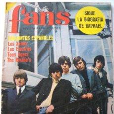 Revistas de música: REVISTA FANS Nº 48 ROLLING STONES - TEEN AGERS - CLAUDE FRANÇOIS - ROKES - BABY - OS DUQUES. Lote 27460453