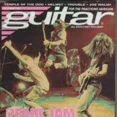 Revistas de música: REVISTA GUITAR -AMERICANA- OCTOBER 1992 - PEARL JAM, GUNS N´ROSES, SUICIDAL TENDENCIES.... Lote 27403295