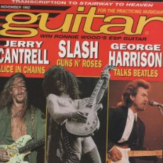 Revistas de música - REVISTA GUITAR -AMERICANA- NOVEMBER 1992 - GUNS N´ROSES, TALKS BEATLES, LED ZEPPELIN, MEGADETH... - 27403296