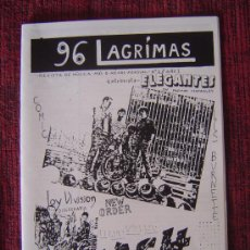 Revistas de música: FANZINE (REPLICA) 96 LAGRIMAS (JOY DIVISION-NEW ORDER-THE CLASH-ZOMBIES-ELEGANTES.....). Lote 57444987