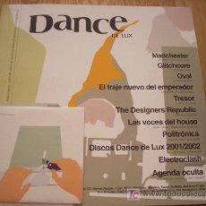 Revistas de música: DANCE DE LUX 2002 + CD [ROCK DE LUX, MADCHESTER,OVAL,ELECTROCLASH]. Lote 211257400