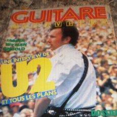 Revistas de música: GUITARE & CLAVIERS-Nº54(JUL-AGO 85)-JAGGER/WYMAN,U2,JERRY LEE LEWIS & MORE.. Lote 27506135
