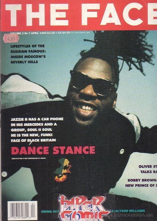 THE FACE , REVISTA DE MUSICA ( EDICION EN INGLES ) - EDITADA APRIL 1989 (Música - Revistas, Manuales y Cursos)