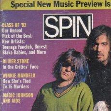 Revistas de música: SPIN , REVISTA DE MUSICA ( EDICION EN INGLES ) - EDITADA JANUARY 1992. Lote 22770271