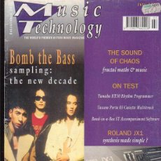 Revistas de música: MUSIC TECHNOLOGY , REVISTA DE MUSICA (EDICION EN INGLES) - EDITADA JULY 1991. Lote 22771610