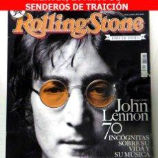 Revistas de música: REVISTA ROLLING STONE ANIVERSARIO JOHN LENNON - MÚSICA THE BEATLES HÉROES DEL SILENCIO -NO LIBRO. Lote 26697106