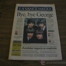 Revistas de música: PERIODICO LA VANGUARDIA 1-12-2001 // BYE BYE GEORGE ( THE BEATLES ) . Lote 23752584