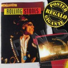 Revistas de música: REVISTA ROLLING STONES CRÓNICA CONCIERTO GIJÓN 1995 + PÓSTER GRUPO MÚSICA ROCK FOTOS -NO LIBRO. Lote 25920050