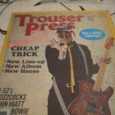 Revistas de música: TROUSER PRESS - Nº57(DEC 80) - CHEAP TRICK,BUZZCOCKS,B-52'S,BOWIE,AC/DC.. Lote 28271940
