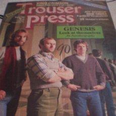 Revistas de música: TROUSER PRESS - Nº71(MAR 82)-GENESIS,KING CRIMSON,JOY DIVISION,U2,ROKY ERICKSON.. Lote 28272309