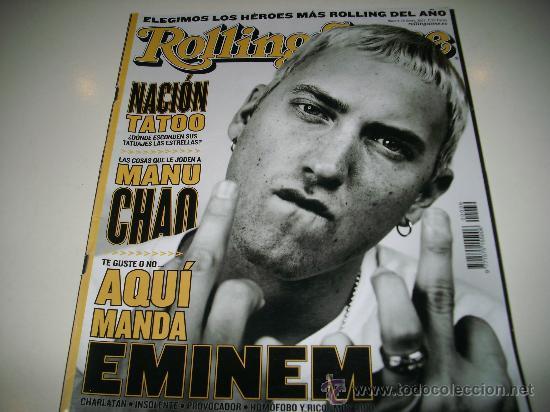 Rolling Stone 39 Enero 2003 Eminem Manu Chao Ta Comprar Revistas - Tatuajes-eminem