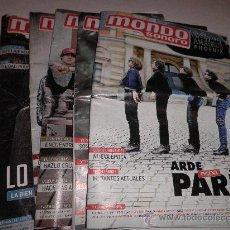 Revistas de música: LOTE 38 REVISTAS MONDO SONORO. Lote 29029630