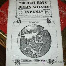 Revistas de música: FANZINE DE BEACH BOYS FANS ESPAÑOLES / MUY RARO - 1991. Lote 29615885