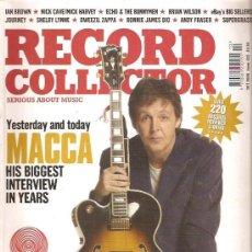 Revistas de música: RECORD COLLECTOR 315. Lote 29826284