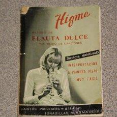 Revistas de música: HIGMA - METODO DE FLAUTA DULCE POR MEDIO DE CANCIONES . AÑOS 60/70 . . Lote 30091846